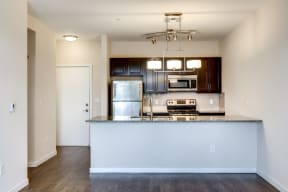 Modern kitchen at 2828 Zuni - Apartments for rent in LoHi