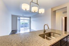Open, spacious living area   2828 Zuni Apartments in LoHi