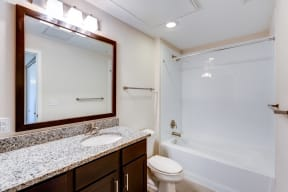 Bathroom layout at 2828 Zuni - Apartments for Rent in LoHi