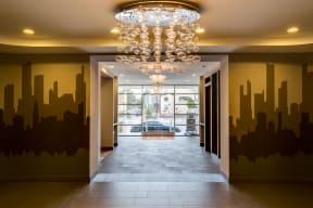 Lobby & view of the street - 2828 Zuni Apartments in Denver
