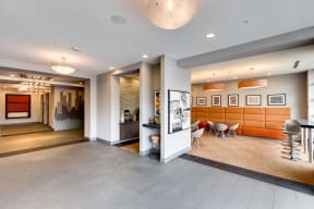 Community Area leading to Coffee Bar at 2828 Zuni