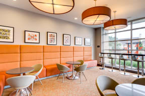 Community Space with Cafe Tables - 2828 Zuni - Denver