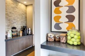 Cafe Area at 2828 Zuni Apartments - LoHi Denver