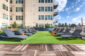 Outdoor sundeck and lounge at 2828 Zuni in Denver, CO