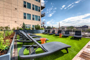 Outdoor Lounge Area - 2828 Zuni in Denver's LoHi District