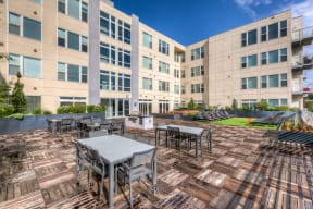 Beautiful sundeck and sky lounge at 2828 Zuni Apartments