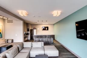 Community lounge at 2828 Apartments in LoHi - Denver