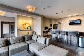 Interior workspace view - 2828 Zuni - LoHi Denver Apartments