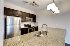 Kitchen with Stainless Steel Appliances - 2828 Zuni - LoHi