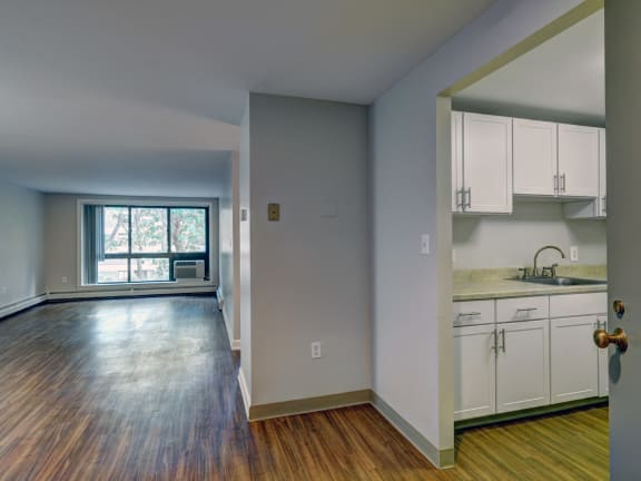 One bedroom apartment at Rockingham Glen in West Roxbury, MA