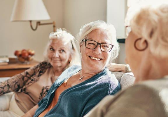 Laughing women at Ballinger Apartments in Edmonds WA