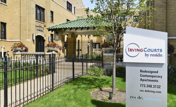 Irving Courts Exterior Signage