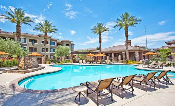 Swimming Pool with Sundeck at Apartments for Rent in North Las Vegas
