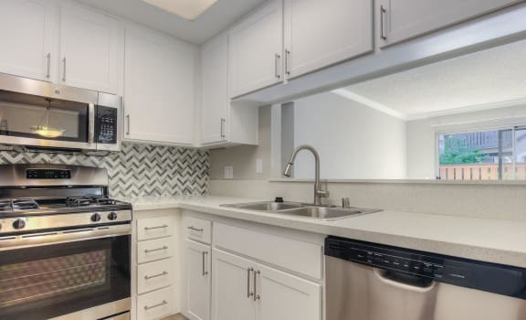 Elegant Fully Equipped Kitchen  at 1750 on First, Simi Valley, CA