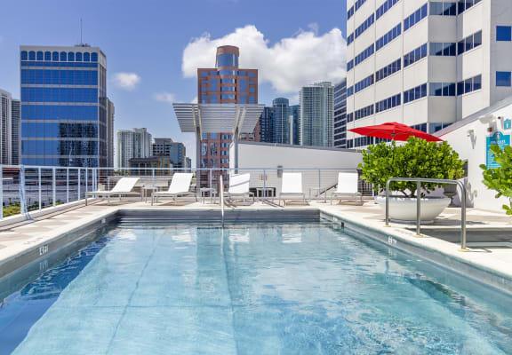 Exchange Loft Apartments pool view