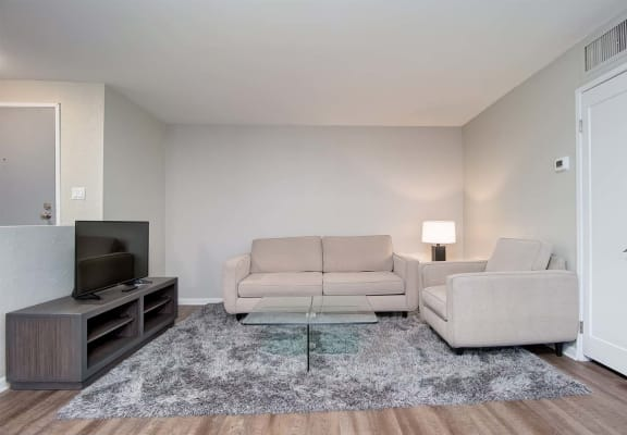 Living Room Tv at El Patio Apartments, California, 91207