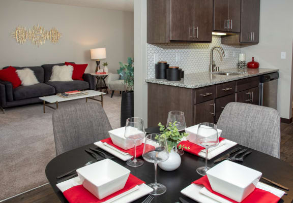 Dining Room at Eagan Place Apartments, Eagan, MN