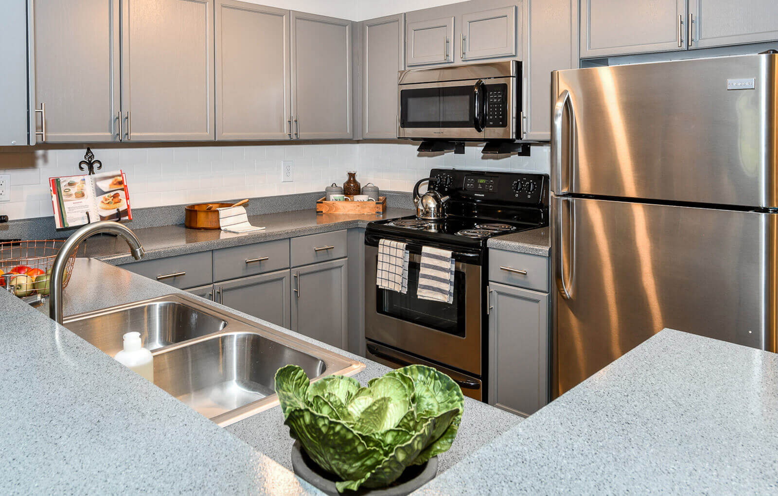 Efficient Appliances In Kitchen, at Crestmark Apartment Homes, Georgia