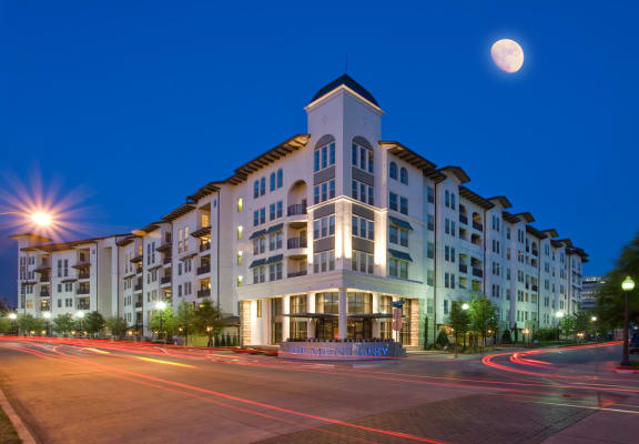 Street view of Apartment Building at The Monterey by Windsor, 3930 McKinney Avenue, TX