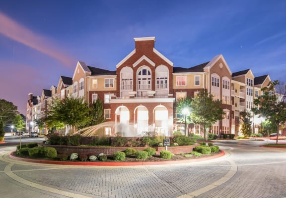 Charming Fountain and Apartment Exterior at Windsor at Contee Crossing, Laurel, MD