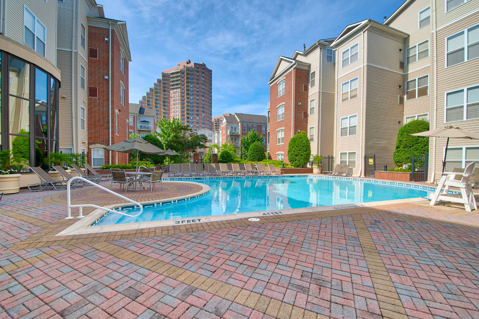 Resort-Inspired, Heated Swimming Pool at Windsor at Liberty House, 07302, NJ