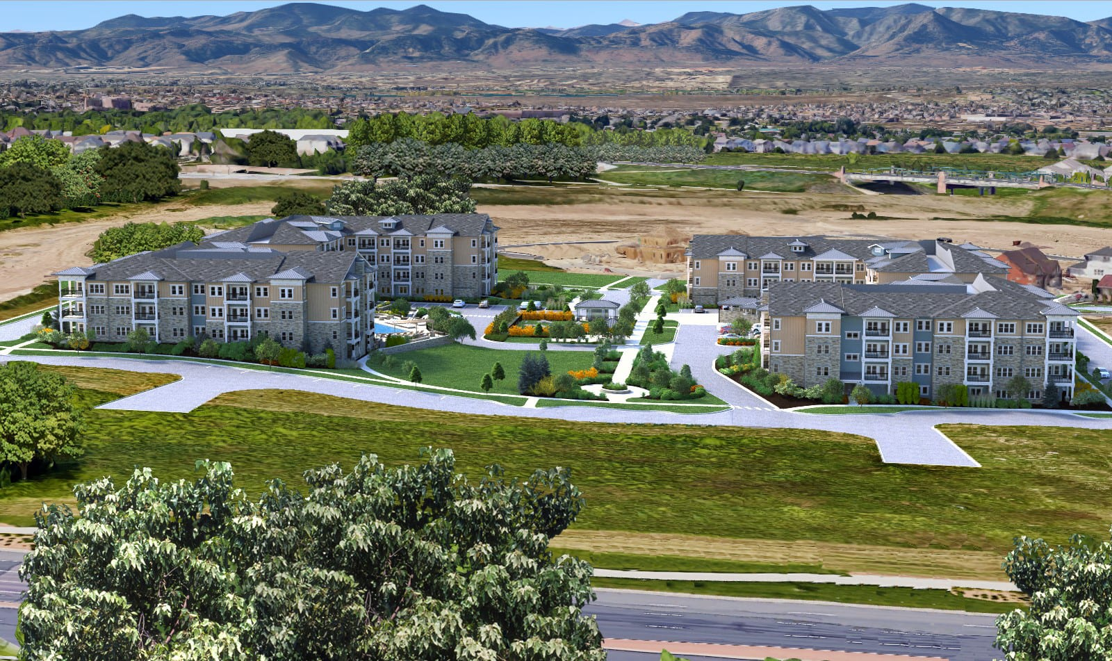 Caliber at Hyland Village Apartments for rent l Westminister, CO 80020 l View of Community