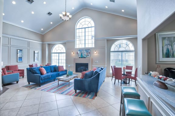 Leasing office waiting area