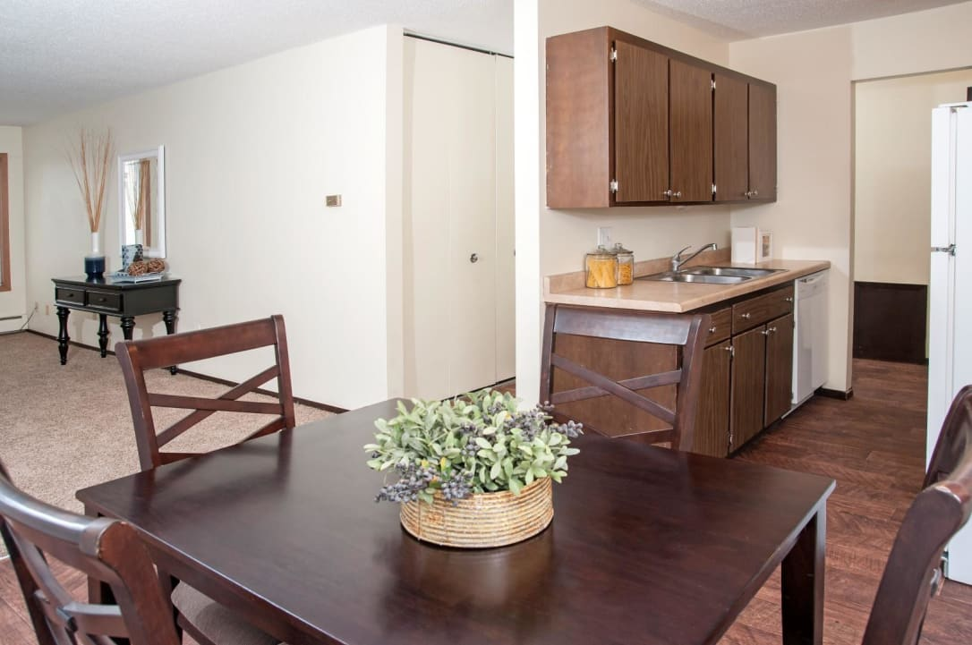 Open Living Space Connecting Kitchen, Dining and Living Room at Burnsville Parkway Apartments