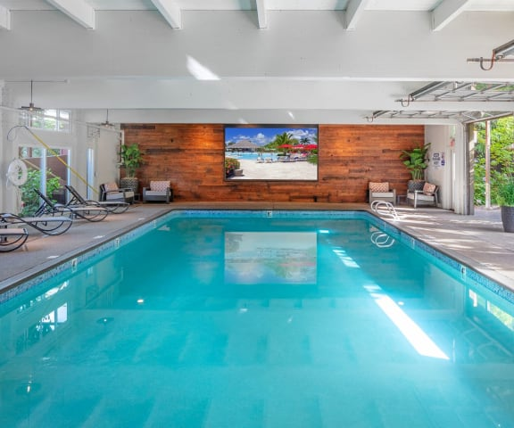 Indoor pool at Canyon Park, Beaverton,Oregon