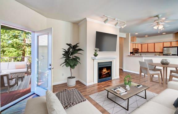 Hardwood Flooring Throughout Living Area