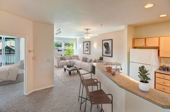Plush Carpeting throughout Living Area at Willina Ranch, Bothell, 98011