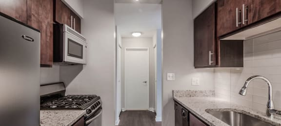 Sleek Interior Finishes at Reside 707 Apartments, Chicago, Illinois