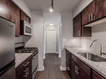 Sleek Interior Finishes at Reside 707 Apartments, Chicago, Illinois