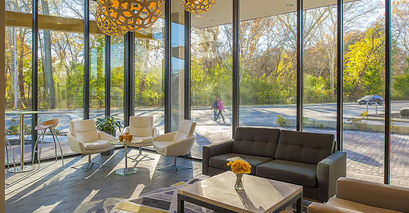 Beautiful Lobby with View at 603 Concord, Cambridge, MA 02138