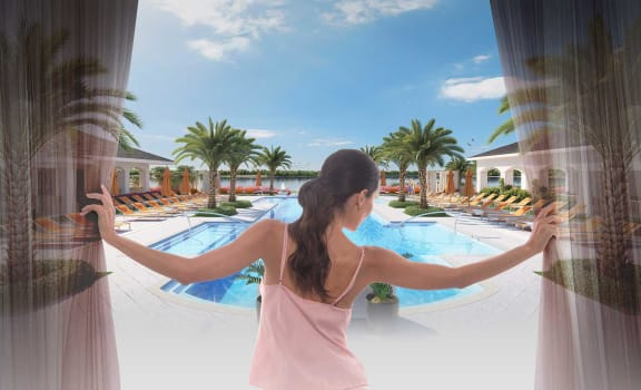 Exquisite Pool View at Town Trelago, Florida, 32751