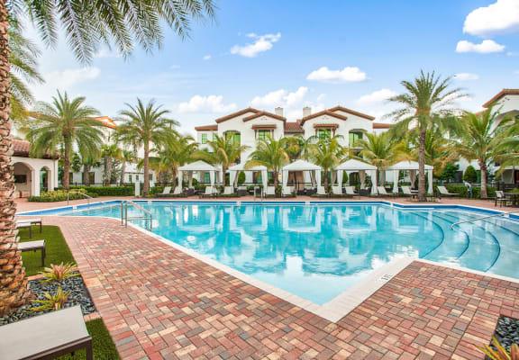 Resort style pool at Mirador at Doral by Windsor, Doral, FL