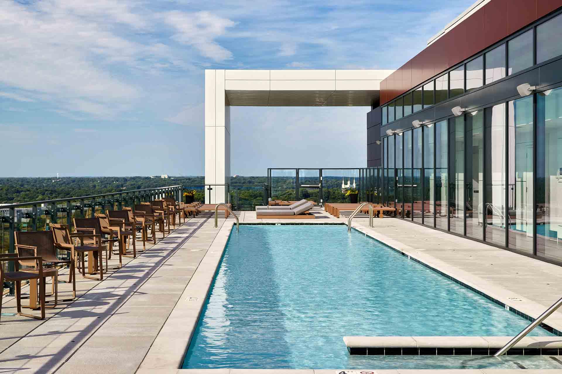 Rooftop pool at 7770 Norfolk, Bethesda, MD