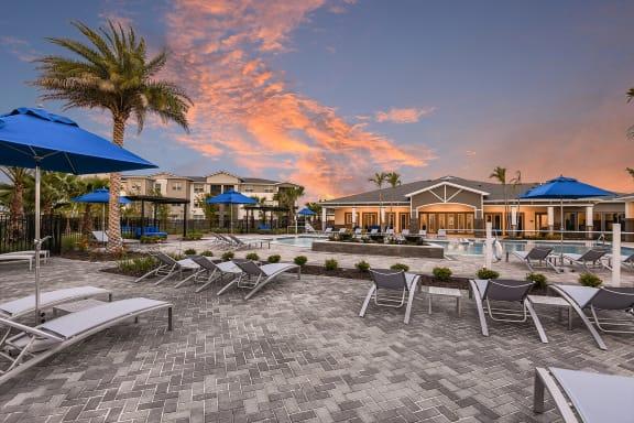 Extensive Resort Inspired Pool Deck at The Luminary at 95, West Melbourne, FL, 32904