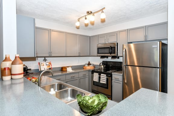 Newly Renovated Interiors Including Stainless Steel Appliances, at Crestmark Apartment Homes, Lithia Springs, GA 30122