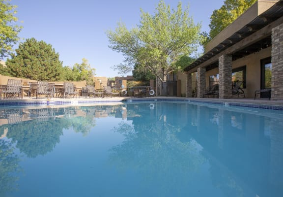 Pool at Tierra Pointe Apartments in Albuquerque NM October 2020