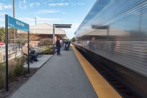 Villa Park Metra Train Near Ovaltine Court