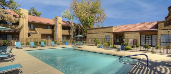Pool at Avenue 8 Apartments in Mesa AZ Nov 2020