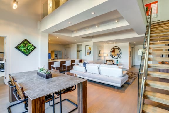 Luxury Living Room at Berkeley Central in Berkeley, CA