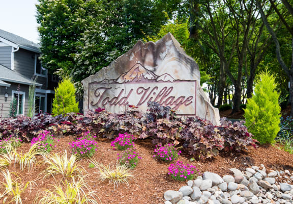 Todd Village Monument Sign