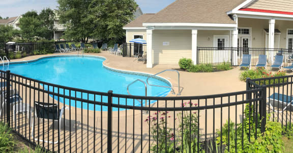 Pool and Lounge Chairs at Oak Hill Apartments Rensselaer, NY 12144