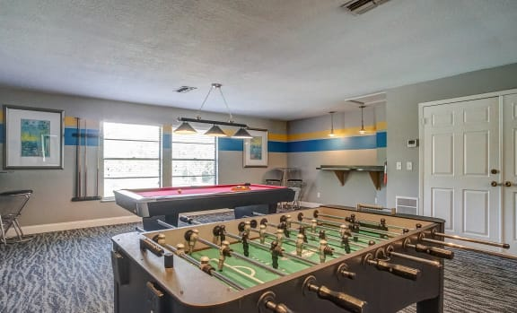 Game room with Foosball & Billiards table