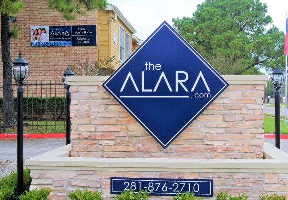Elegant Entry Signage at The Alara, Texas, 77060