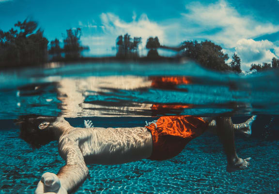 Underwater in Pool at Biscayne Bay Apartments, Chandler, AZ