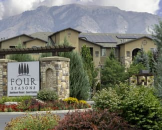 Welcoming Property Signage at Four Seasons Apartments & Townhomes, North Logan, 84341