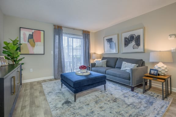 Modern Living Room at St. Andrews Reserve, North Carolina, 28412
